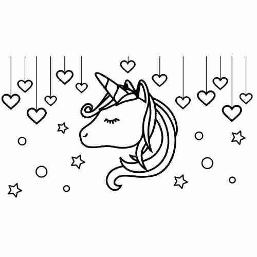 Kawaii unicorn coloring pages