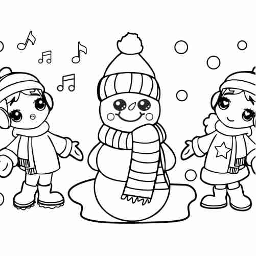 little christmas snowman coloring pages