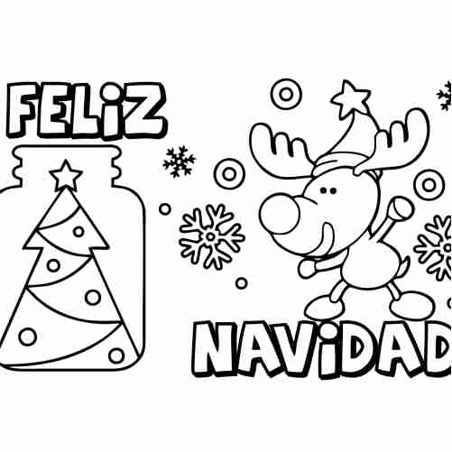 kawaii cheerful christmas coloring pages for kids