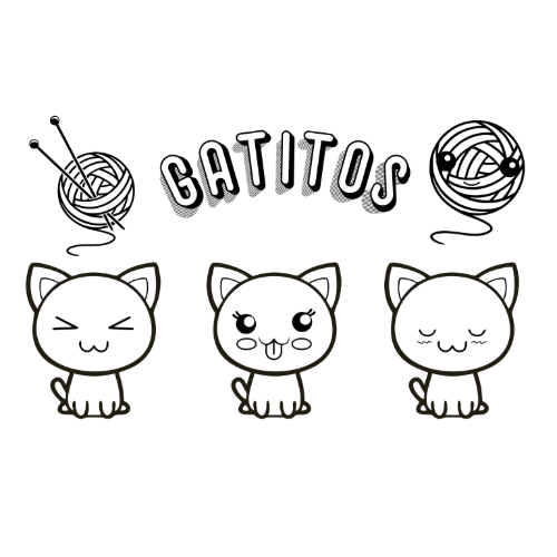 Kawaii Fantastic Kittens Coloring Pages
