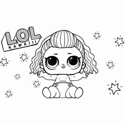 Baby LoL Dolls coloring pages for kids
