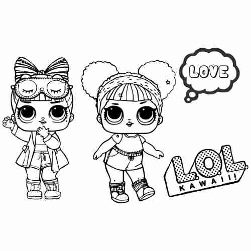 Lol dolls coloring pages for kids