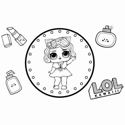 LoL surprise coloring pages for kids