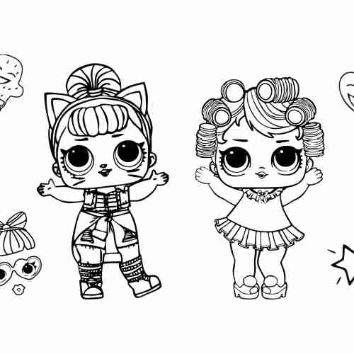 LOL Surprise Dolls coloring pages