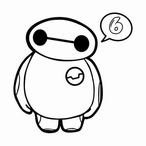cute baymax coloring pages