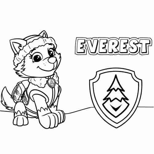 Everest Paw Patrol Coloring Pages For Kids