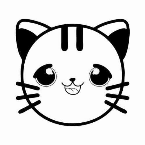 baby cat emoji coloring pages for kids