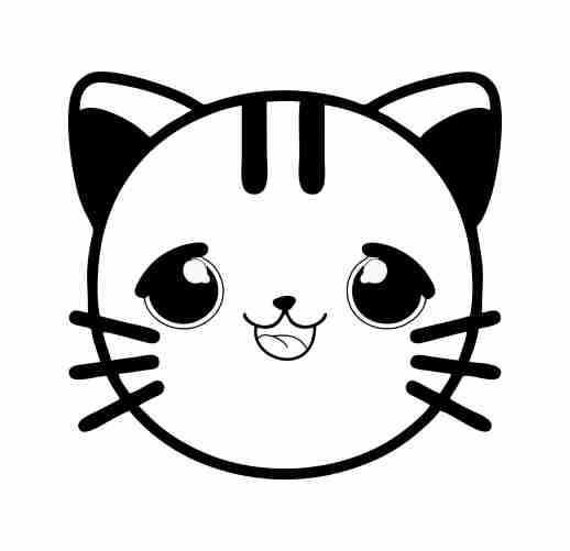 baby cat emoji coloring pages for kids 🐹 Free Online ...