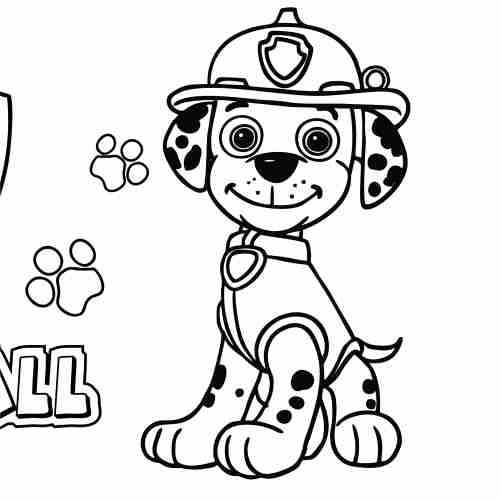 Marshall Paw Patrol Coloring Pages For Kids