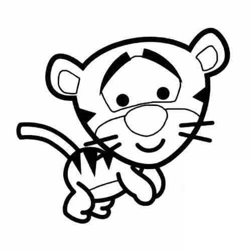 Baby tigger coloring pages for kids