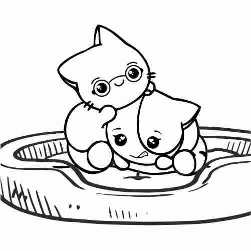 gatitos kawaii jugando