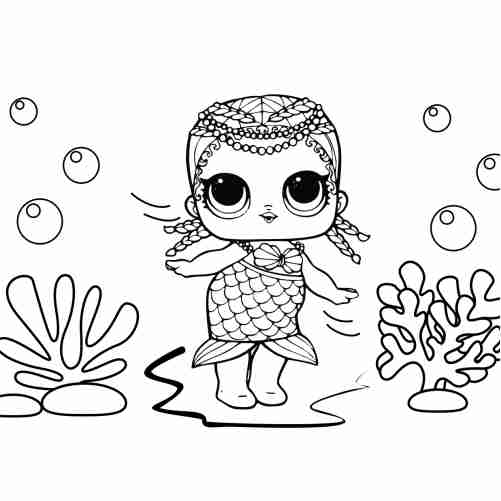 Mermaid lol surprise coloring pages