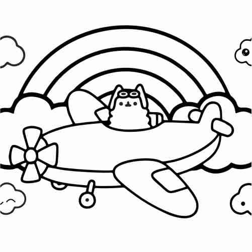Captain pusheen coloring pages