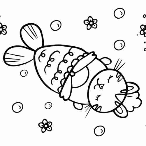 Bunny mermaid coloring pages