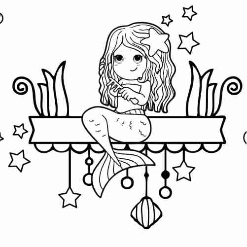Party Mermaid coloring pages