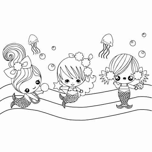 little baby mermaids coloring pages