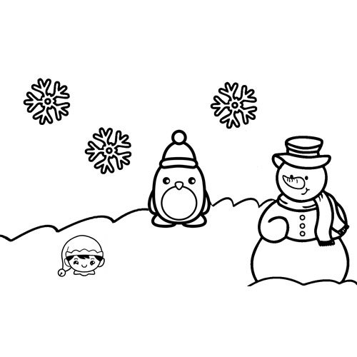 kawaii friends on a merry christmas coloring book