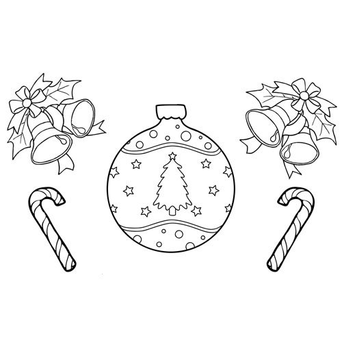 Christmas ornament, Merry Christmas coloring book