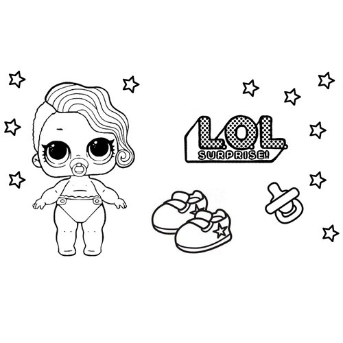 baby lol coloring book