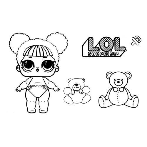 baby bear lol coloring book