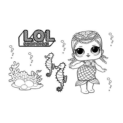 little mermaid lol coloring book