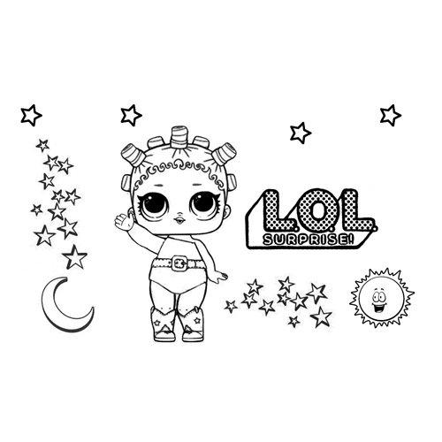 cosmic girl lol coloring book