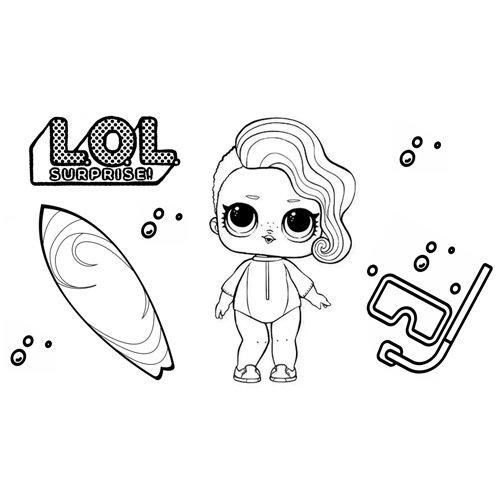 surfer girl lol coloring book