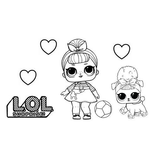 swing girl with pet love lol coloring book