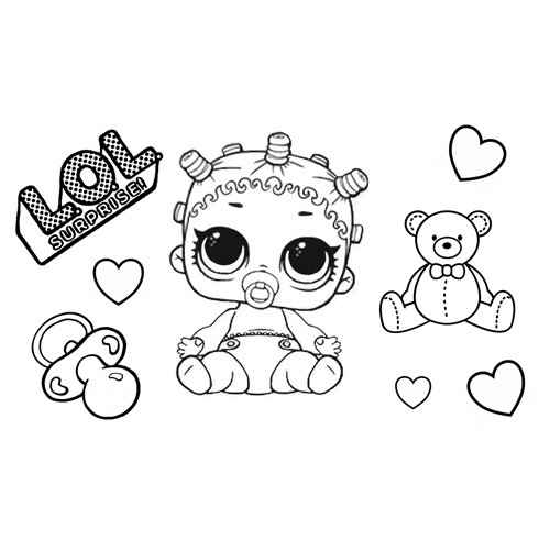 lil sister lol coloring book