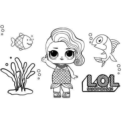 splash queen girl lol coloring book