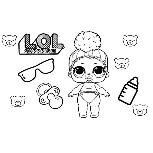 fashion baby lol coloring book