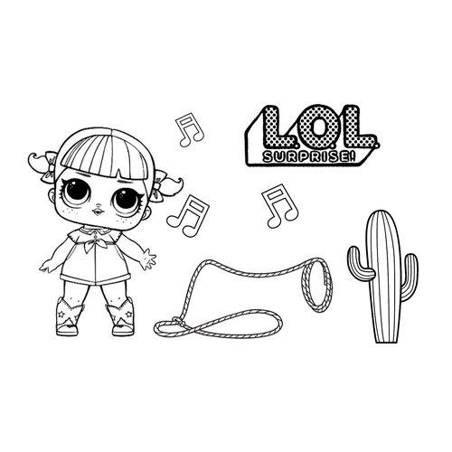 line dancer girl lol coloring book