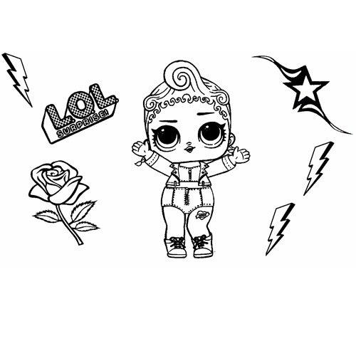 pink girl lol coloring book