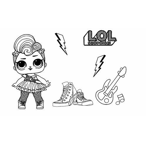 miss punk girl lol coloring book