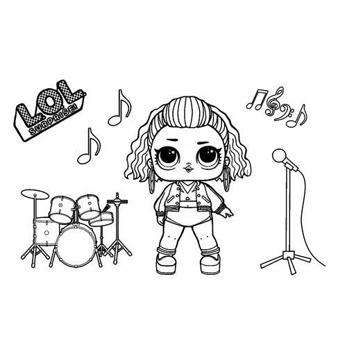 Super rock girl lol coloring book