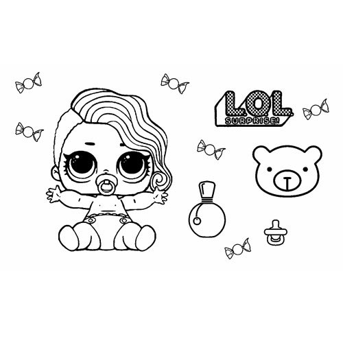 baby lol surprise coloring book