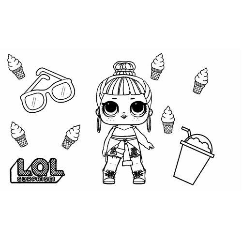honey bun girl lol coloring book