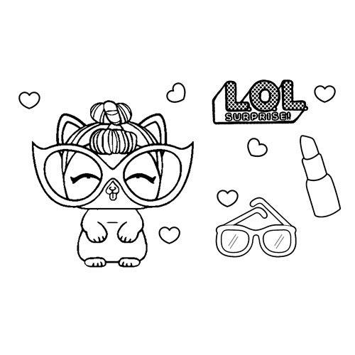 fashion cat pet lol coloring book