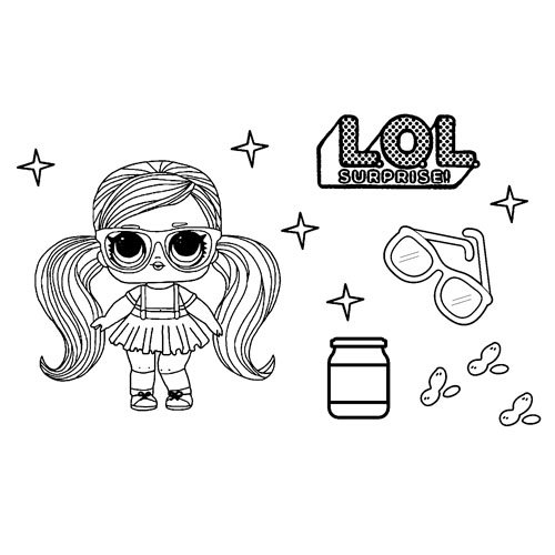 hairvibes peanut butter lol coloring book