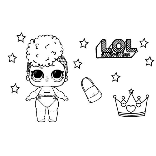 independent queen girl lol coloring book
