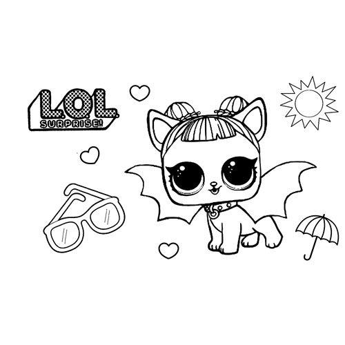 cute bat pet lol coloring book