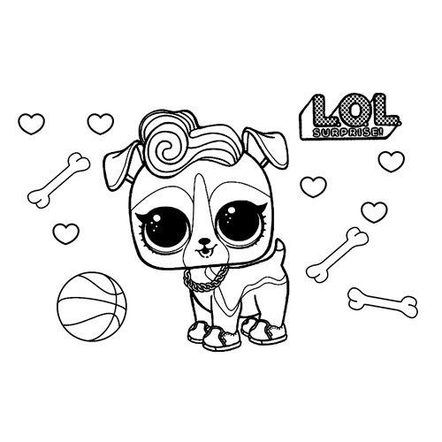 cute dog pet lol coloring book