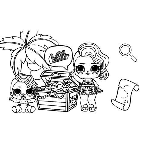 treasure hunter girl lol coloring book