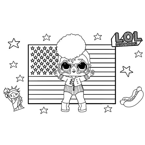 LOL surprise sparkle independent queen coloring book
