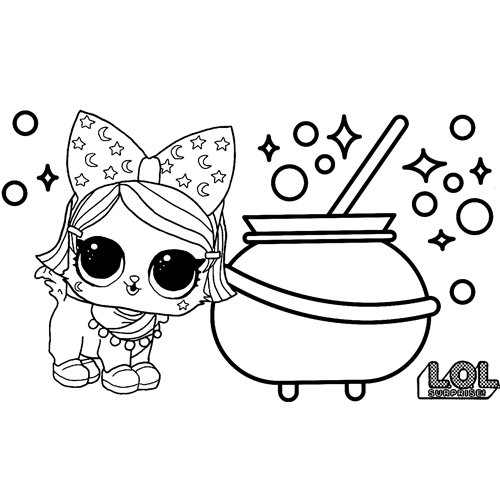 LOL surprise winter disco coloring witchay kittay
