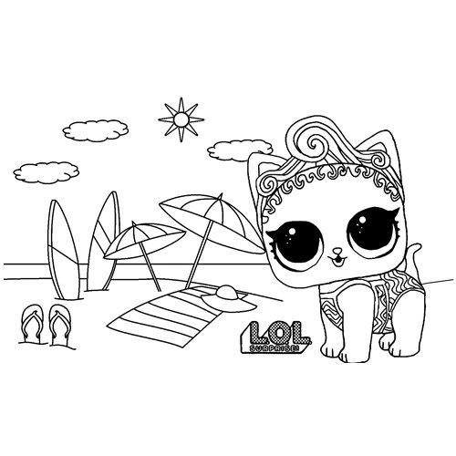 LOL surprise winter disco precious meow coloring book