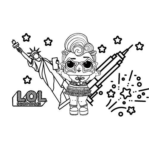 LOL surprise winter disco N.Y.E.Q.T coloring book