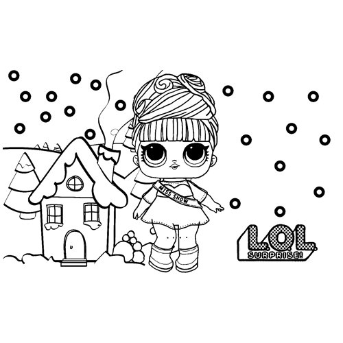 LOL surprise winter disco miss snow coloring book