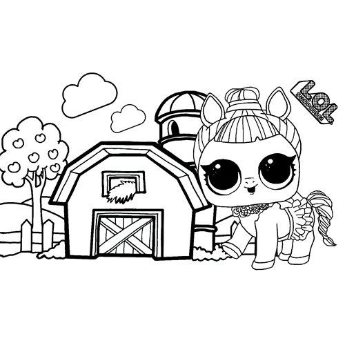 LOL surprise winter disco pretty donkey coloring book
