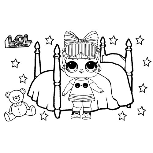 LOL surprise sparkle snuggle babe coloring book